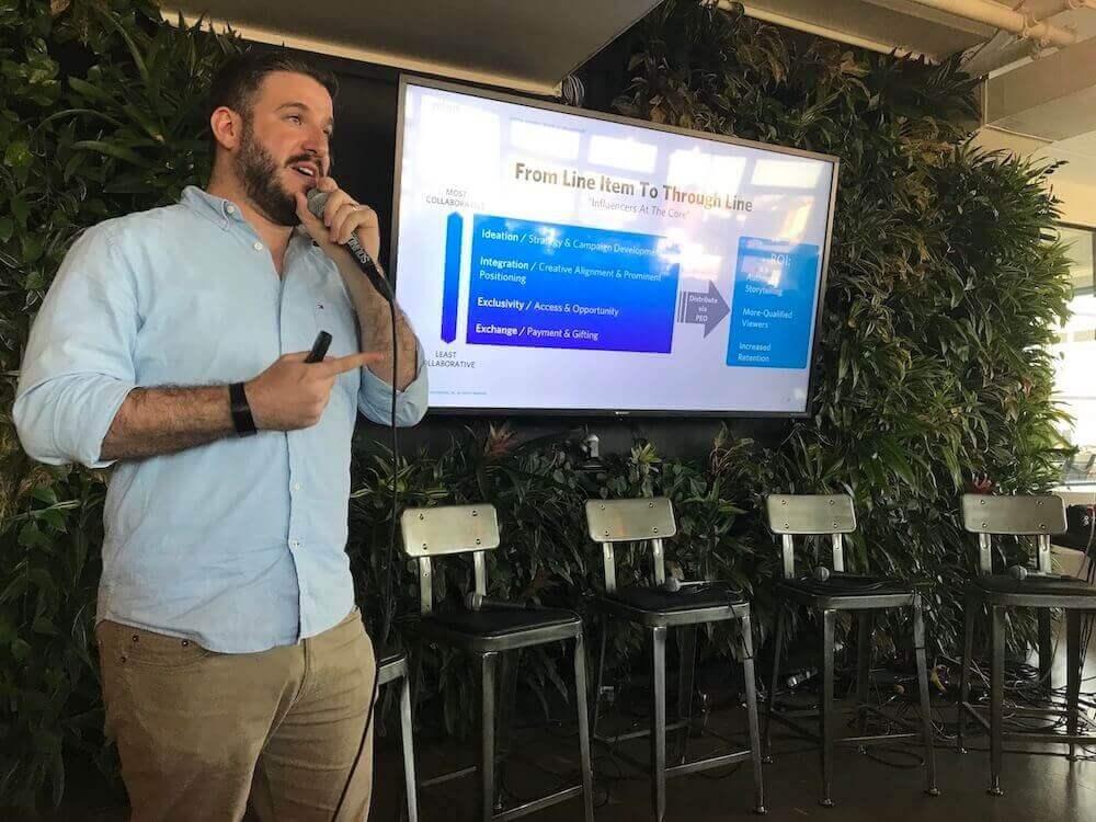 Danny Palestine speaks at Digital DUMBO
